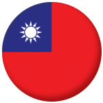 Taiwan Country Flag 58mm Button Badge